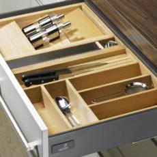 Лоток для столовых приборов OrgaTray 250 Exclusiv 1 для InnoTech, модуль 600, 462х512 мм, бук, Hettich