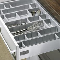 Лоток для столовых приборов OrgaTray 560 Professional для InnoTech, модуль 900, 462х815мм, серый, Hettich