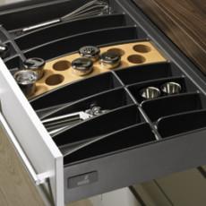 Лоток для столовых приборов OrgaTray 460 Premium 2 для InnoTech, модуль 600, 462х512 мм, антрацит, Hettich
