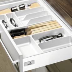 Лоток для столовых приборов OrgaTray 410 Basic для InnoTech, модуль 900, 441-520х801-850мм, белый, Hettich