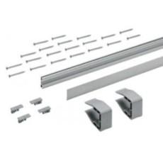 Комплект направляющих профилей SLIDELINE M, L3000,H16, цвет серебристый, Hettich