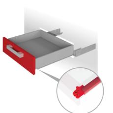 Направляющие механизмы скрытого монтажа DB4462Zn/550