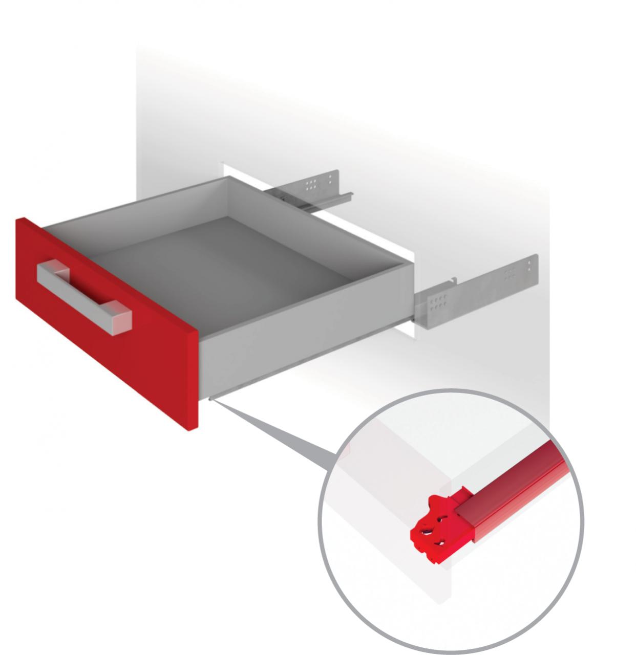 Направляющие механизмы скрытого монтажа DB4461Zn/450