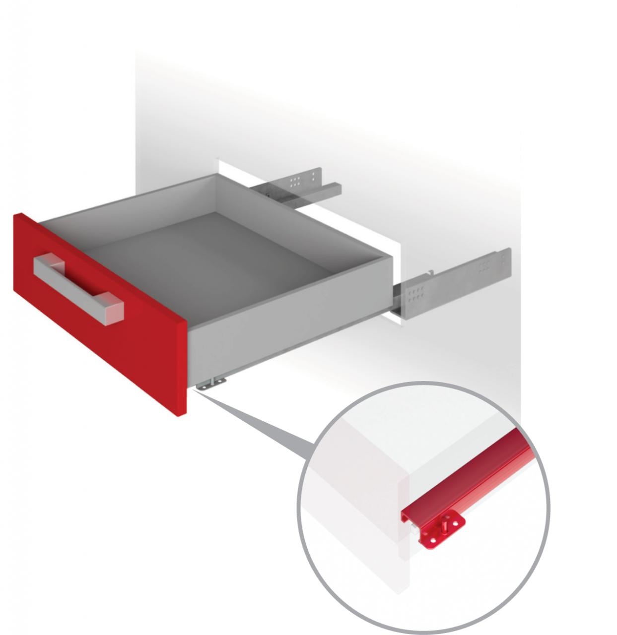Направляющие механизмы скрытого монтажа DB4464Zn/450
