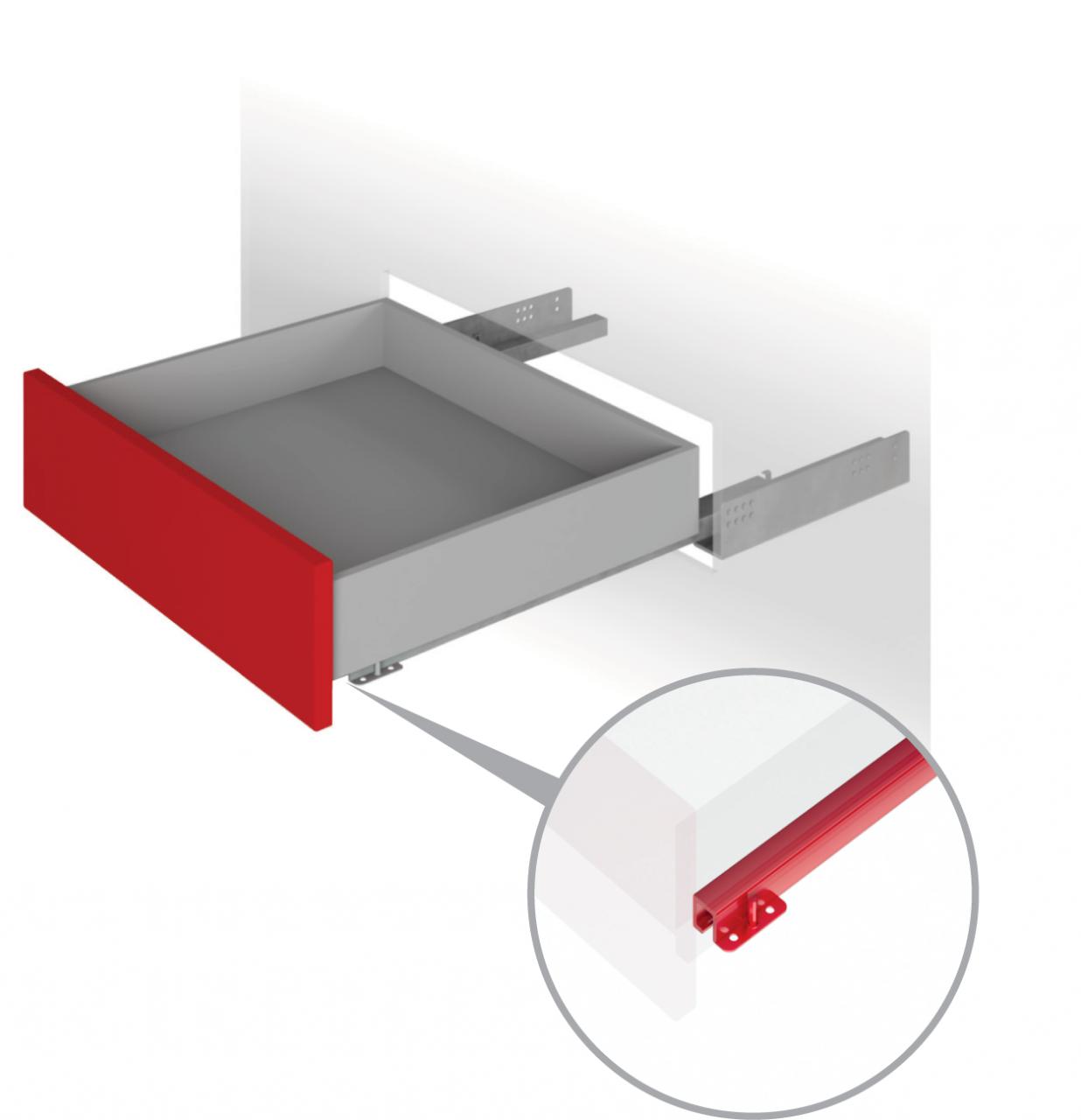 Направляющие механизмы скрытого монтажа DB4467Zn/450